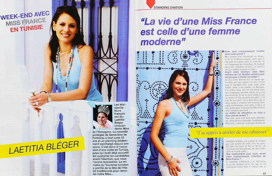 Laetitia Bleger, Miss France 2004 à Tunis, Magazine EUX n°4, Avril 2004
