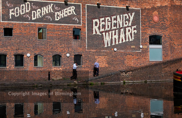 Regency Wharf at Gas Street Basin, Birmingham, England