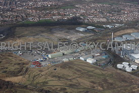 Widnes aerial photograph of Shell Green Estate Industrial units on Johnson's Lane and Gorsey Lane