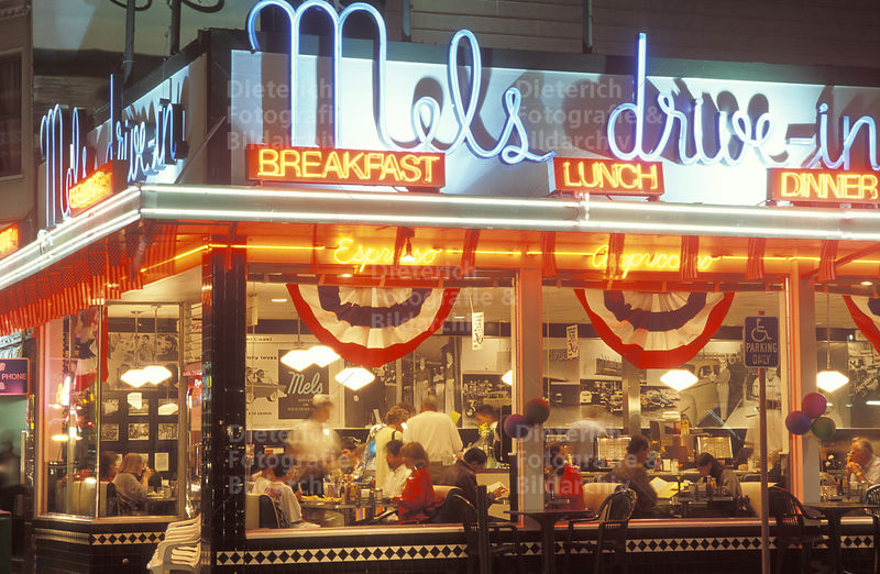 Restaurant Mels Drive In, Lombard Street, San Francisco