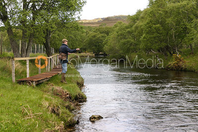 Fly fishing, Kinloch, Scotland