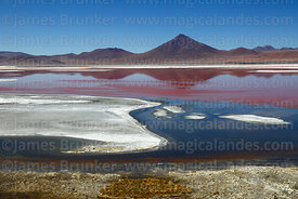 Borax deposits in Laguna Colorada and Cerro Pabellon volcano, Eduardo Avaroa Andean Fauna National Reserve, Bolivia