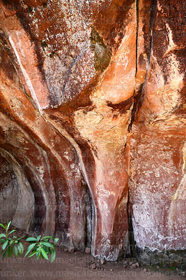 Detail of rock formations in caverns in Ciudad de Itas, Torotoro National Park, Bolivia