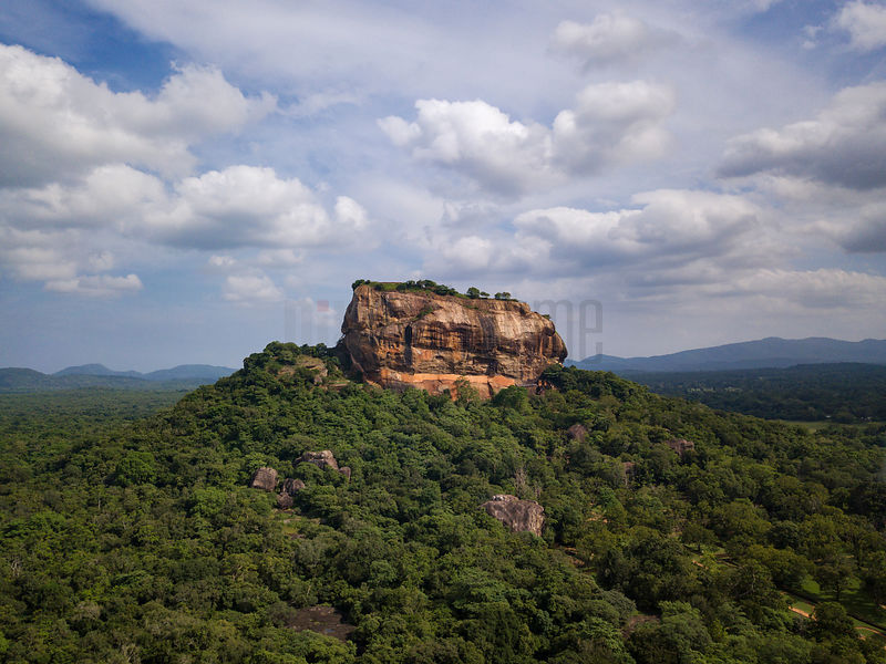 Elevated View of Sigiriya Rock