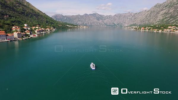 Tourist Boat On the Bay of Kotor Montenegro