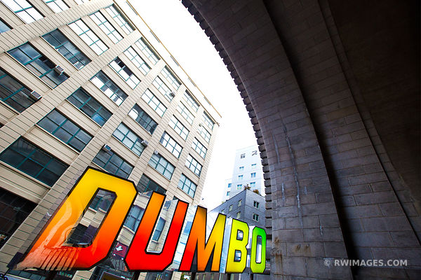 DUMBO BROOKLYN SIGN BROOKLYN NEW YORK COLOR