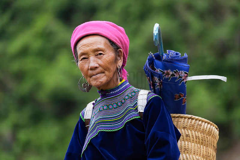 Portrait of a Flower Hnong Woman