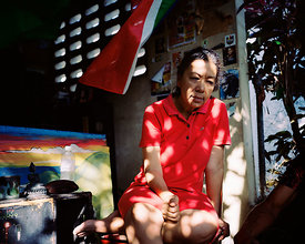 Red dress, Kingston, Jamaica © Andrew Jackson