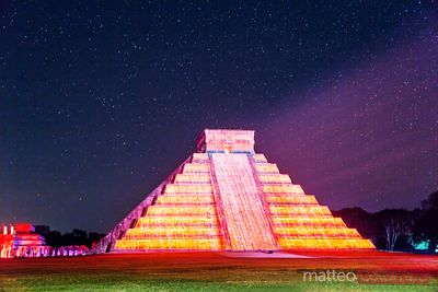 El Castillo temple with light show, Chichen Itza, Mexico