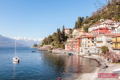 Colorful town on lake Como, Varenna, Italy