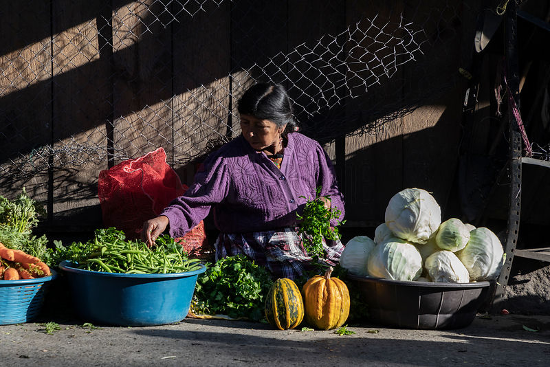 Vegetable Seller at Quetzaltenango Market