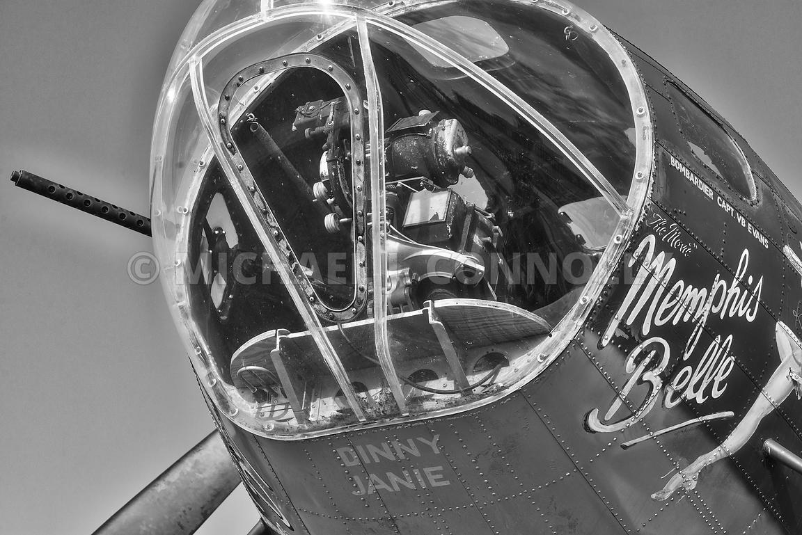 Memphis Belle- Bomb Sight (B&W)