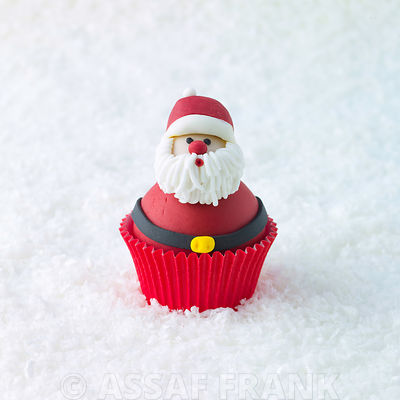 Santa claus Cupcake on snow