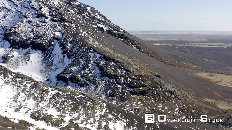 Typical Rugged Mountainous Landscape of Iceland in the Winter
