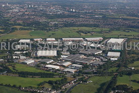 Oldham aerial photograph of the Stakehill Industrial Estate looking towards Oldham