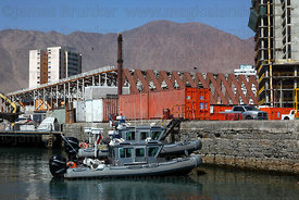 Chilean Navy Defender Class high speed launches in port , Iquique , Region I , Chile