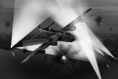 Short Stirling LK386 battling through BW version