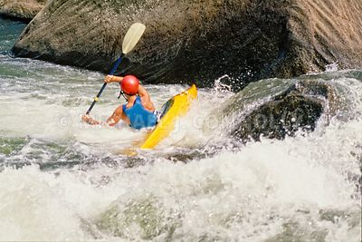 Yellow Kayak In Youghiogheny River Class 5 Rapids