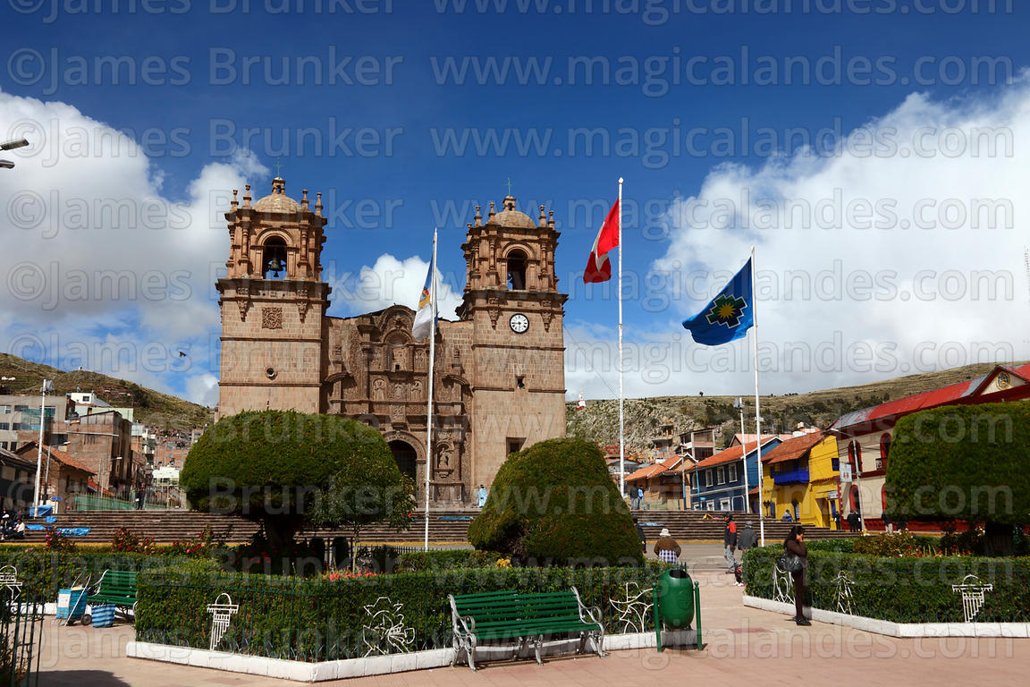 Cathedral and Plaza de Armas, Puno, Peru