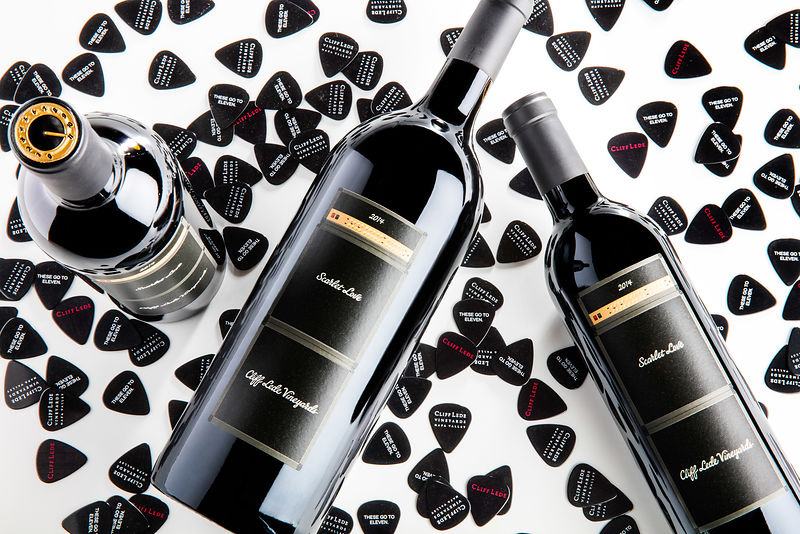 Fun and creative wine bottle shots by Sonoma and Napa photographer Jason Tinacci