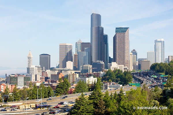 DOWNTOWN SEATTLE SKYLINE WASHINGTON STATE