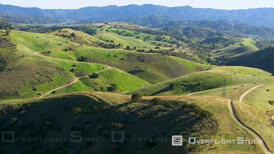 Time Lapse Aerial Footage of Rolling Green Hills