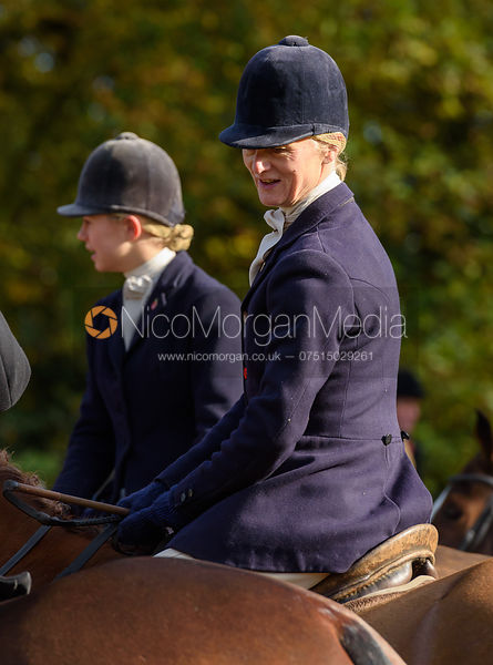 Annabel Bealby, Marina Bealby at the meet - The Cottesmore at Somerby 5/11