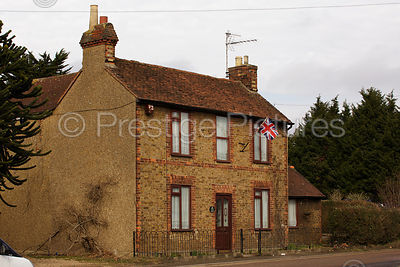 Detached House Flying the Union Jack Flag
