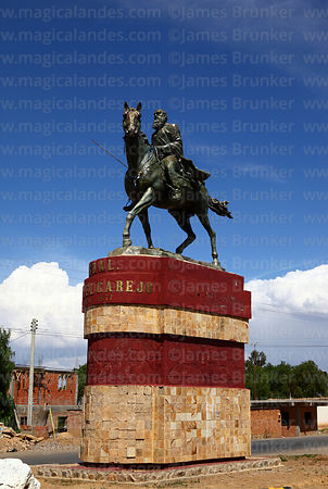 Statue of General Mariano Malgarejo, Tarata, Cochabamba Department, Bolivia