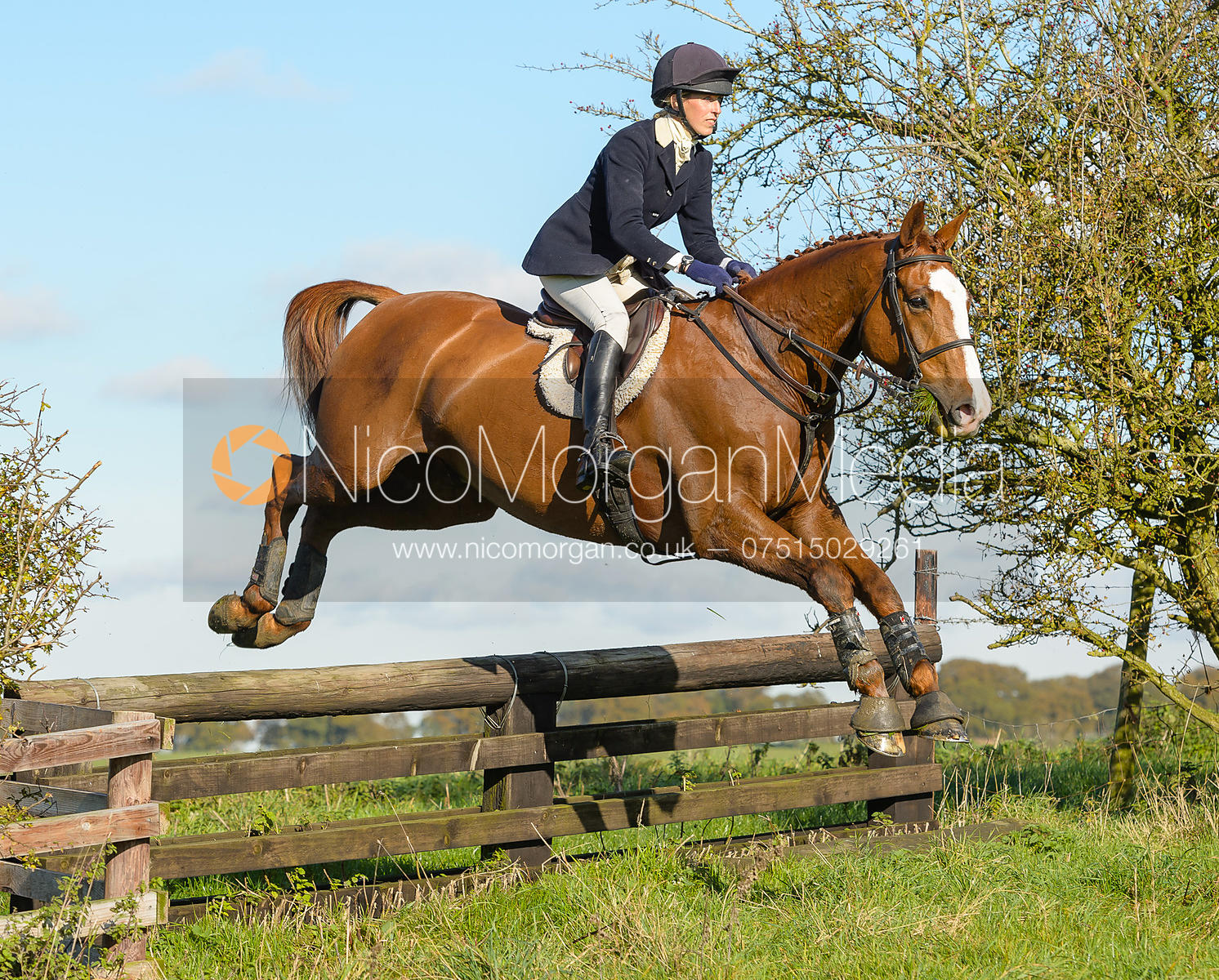 Katie Barber jumping a fence at Ingarsby Hall 27/10