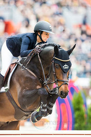 Paris, France, 17.3.2018, Sport, Reitsport, Saut Hermes - .PRIX GL Events Bild zeigt Janika SPRUNGER(SUI) riding Ninyon...17/...
