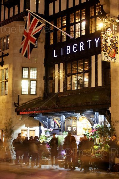 Christmas at the Liberty Store in London