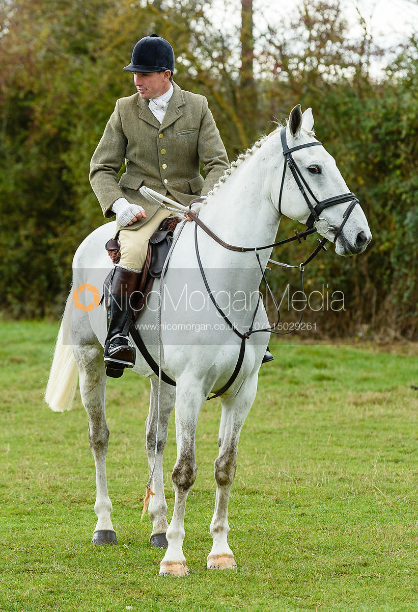 Rowan Cope at the meet. Quorn Hunt Opening Meet 2018