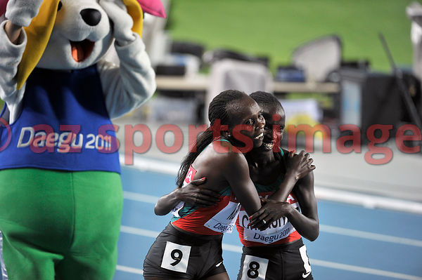 Kenyan athletes Vivian Jepkemoi Cheruiyot and Sylvia Jebiwott Kibet scooped the medals for the 5000m race at the IAAF World c...