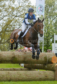 Kristina Cook and DE NOVO NEWS - Cross Country phase, Mitsubishi Motors Badminton Horse Trials 2014