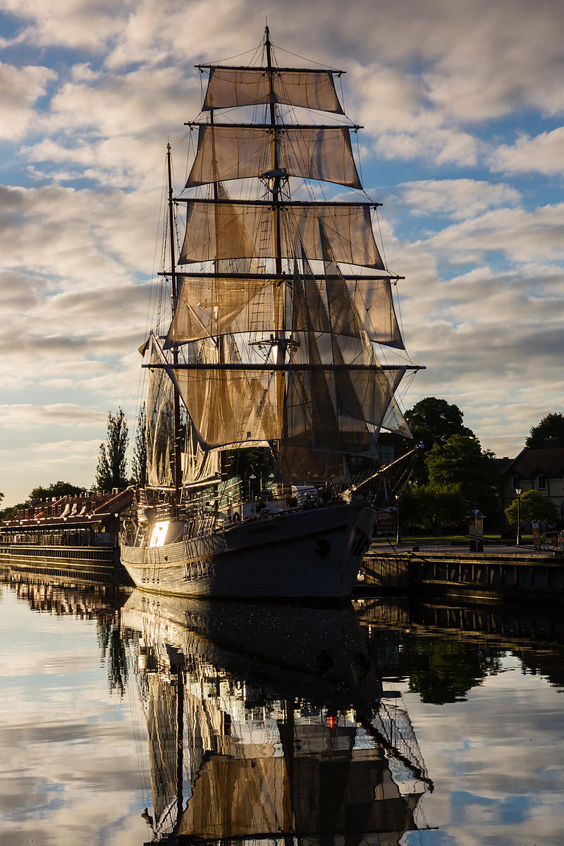 Tall Ship Meridianas at a Mooring on the Danes River