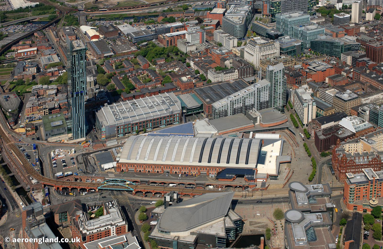 aerial photograph of Manchester Central Convention Complex