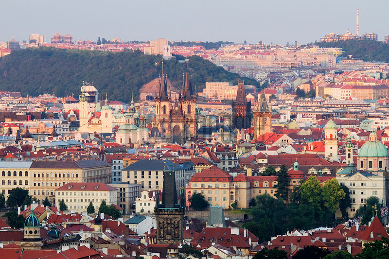 Elevated View of Old Town Prague