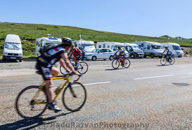 Amateur Cyclists on the Road to Col de Pailheres