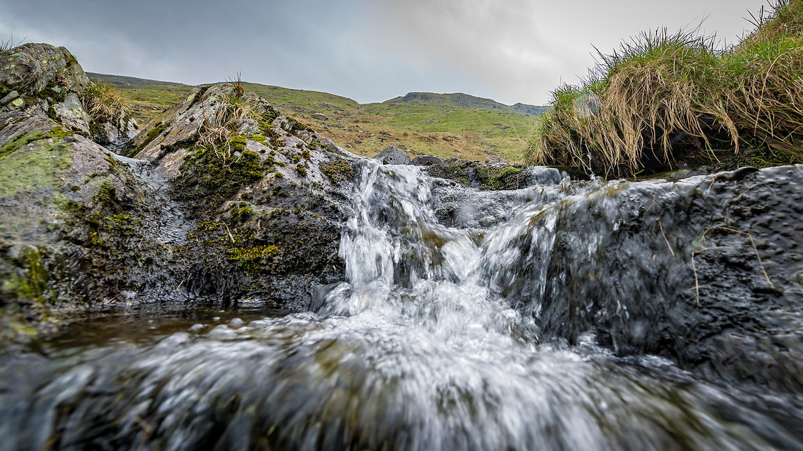 Waterfall in the Kirkstone Pass, Lake District