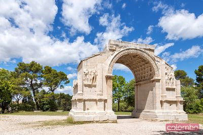 Ruins of Glanum, roman archeological site, St Remy de Provence, France