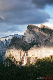 Dramatic light on Bridalveil fall, Yosemite, USA