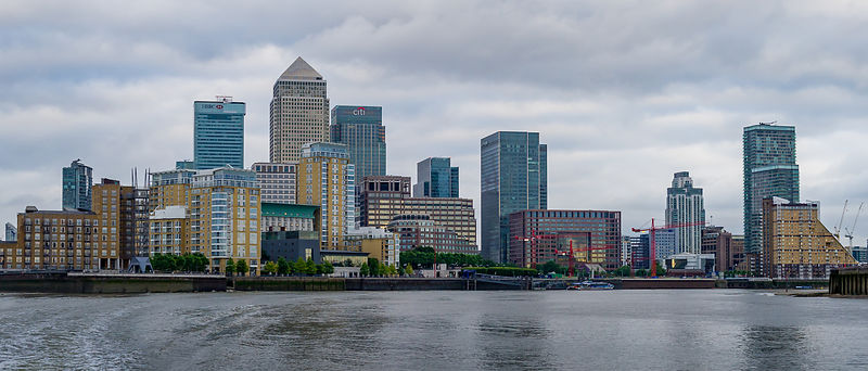 London City Skyline on a Grey Day