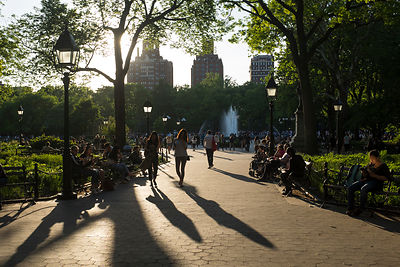 Washington Square Park, Manhattan, New York, USA / Washington Square Park, Manhattan, New York, USA