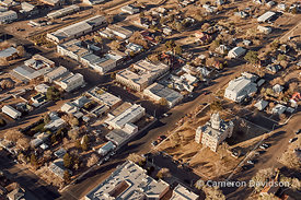Aerial of Marfa, Texas
