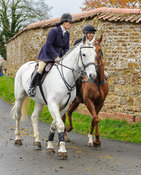 Liz Foster and Russell Nearn - The Cottesmore Hunt at Tilton on the Hill, 9-11-13