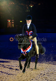 Sarah Challinor and  Pumphill Buckthorn - Supreme Pony of the Year - HOYS 2011