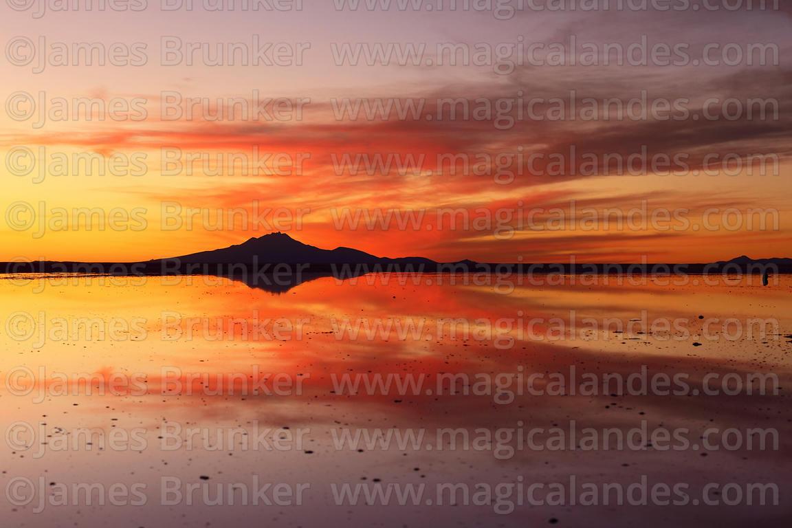 Magical Andes Photography Tunupa Volcano And Salar De Uyuni At Sunset In Rainy Season Bolivia Photograph