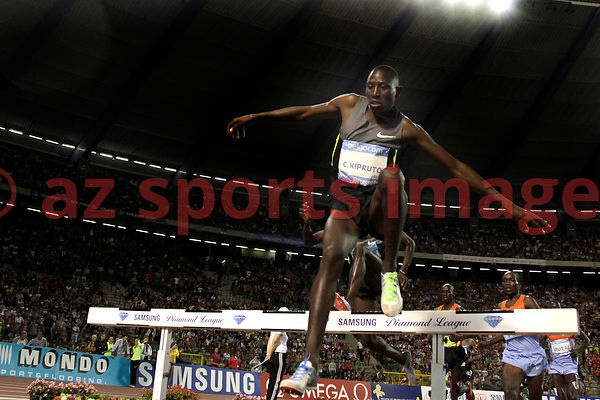 BRUSSELS, BELGIUM - SEPTEMBER 7: Conseslus Kipruto (KEN) 2nd place 3000m SC at thevIAAF Golden League meeting at the Memorial...