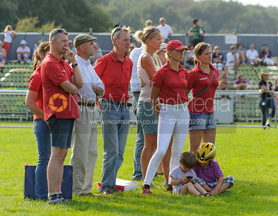 Members of the German eventing team - dressage phase,  Land Rover Burghley Horse Trials, 5th September 2013.